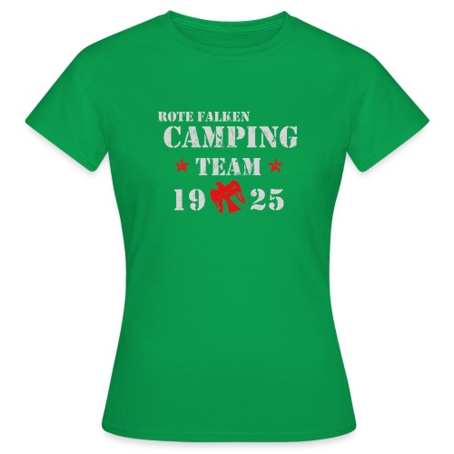 Camping Team 1 front png - Frauen T-Shirt
