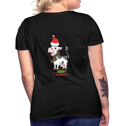 Merry Christmas - cow - T-shirt dam