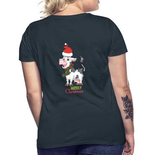 Merry Christmas - cow - T-shirt dam