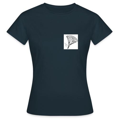 Fallschirmspringer am Fallschirm - Frauen T-Shirt