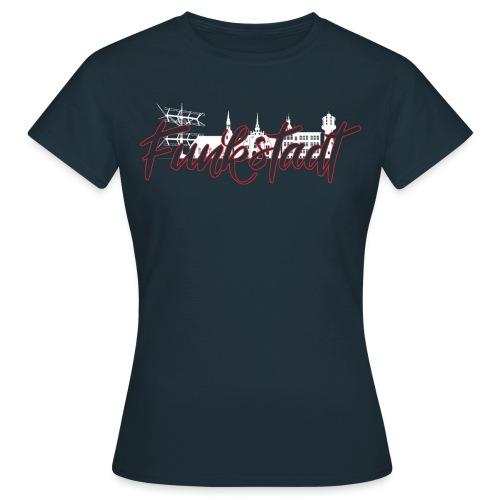 Funkstadt Nauen white / red - Frauen T-Shirt