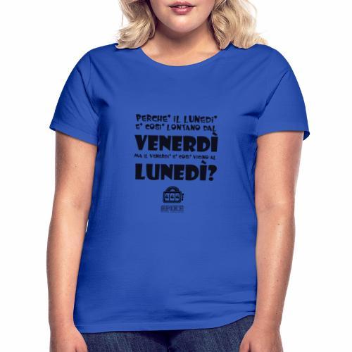 SPIKE-lunedi-venerdi-nero - Maglietta da donna