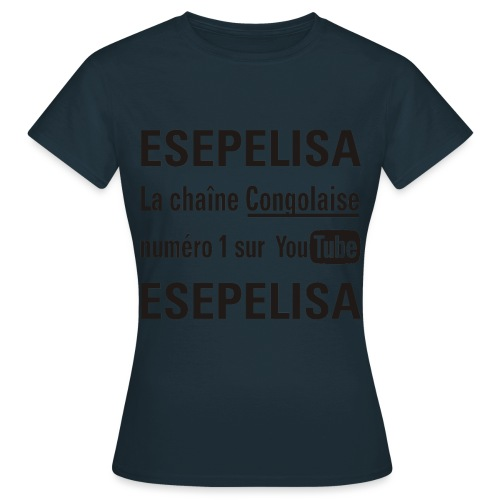 Esepelisa Texte Noir - T-shirt Femme