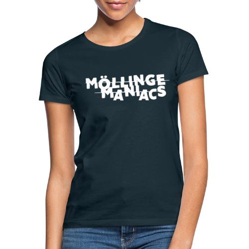 Möllinge Maniacs Vit logga - T-shirt dam