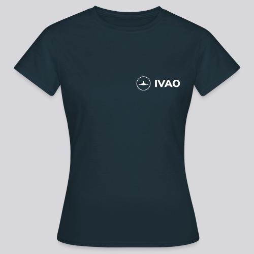IVAO (Logo Complet Blanc) - T-shirt Femme