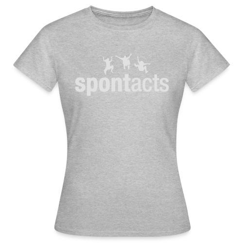 spontacts_Logo_weiss - Frauen T-Shirt