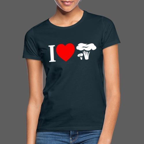 I LOVE FUNGO tema scuro finferli - Maglietta da donna