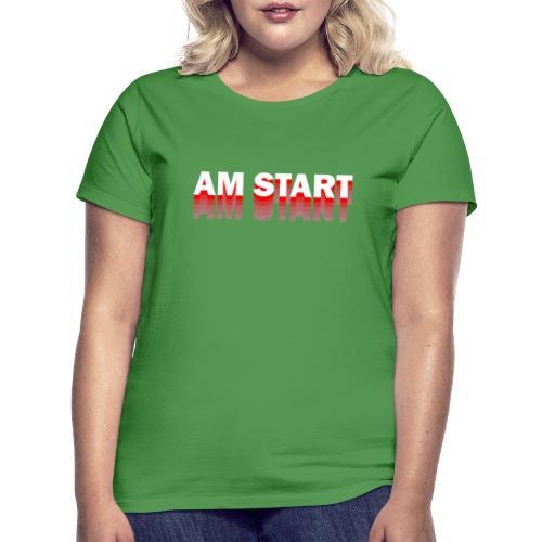 am Start - rot weiß faded - Frauen T-Shirt