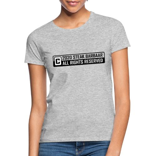Copyright standaard zwart wit - Vrouwen T-shirt