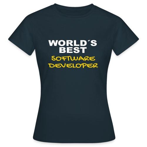 Worldsbest Software Developer Hell - Frauen T-Shirt