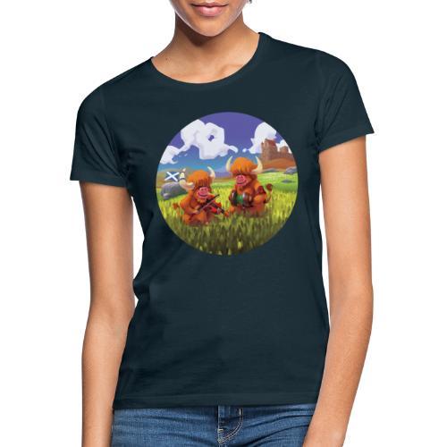 Highland cows from Scotland - T-shirt Femme
