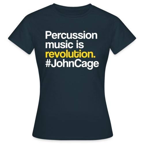 John Cage - Percussion Music (Schlagzeug Motiv) - Frauen T-Shirt