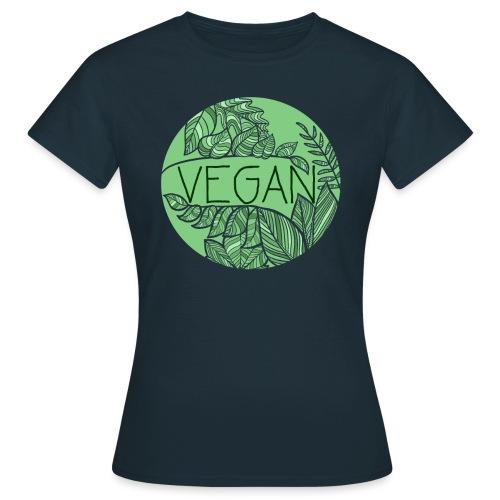 Vegan und Blättersalat - Frauen T-Shirt
