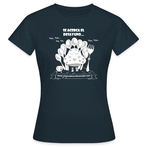 madalenas se acerca el desayuno white gif - Camiseta mujer