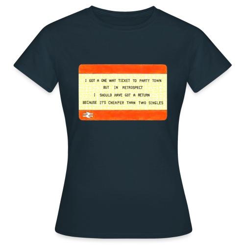 Party Town Ticket - Women's T-Shirt