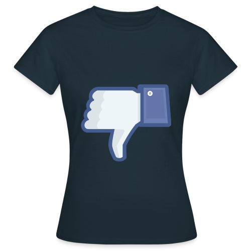 not facebook not like thumbs down - Women's T-Shirt