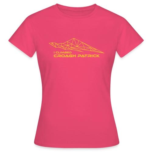 I climbed Croagh Patrick Geometric Design - Women's T-Shirt
