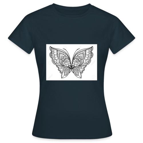 78831507 le style zentangle papillon dessine a in - T-shirt Femme