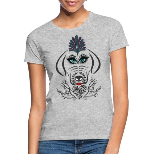 Hipster Dog Girl by T-shirt chic et choc - T-shirt Femme