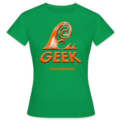 arobase wave orange - T-shirt Femme