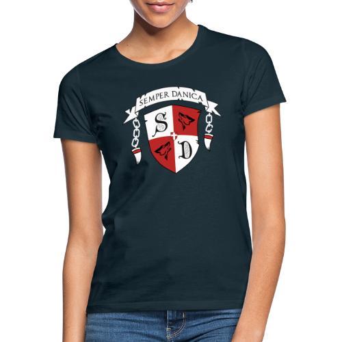 SD logo - hvide lænker - Dame-T-shirt