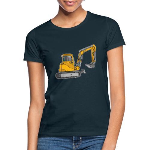 BAGGER, gelbe Baumaschine mit Schaufel und Ketten - Frauen T-Shirt
