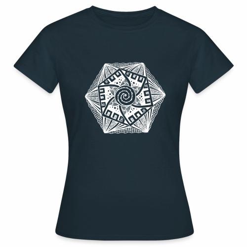 Sechseck white - Frauen T-Shirt