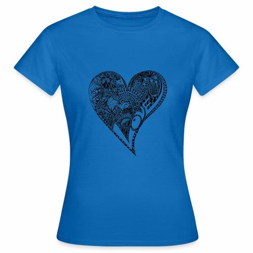 Heart black - Frauen T-Shirt