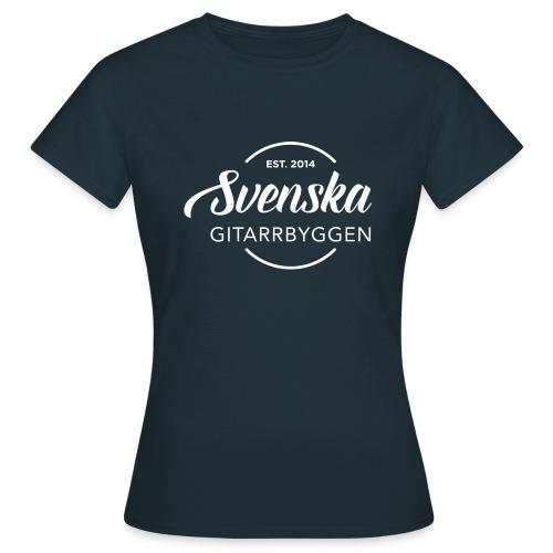 Svenska Gitarrbyggen Vit png - T-shirt dam