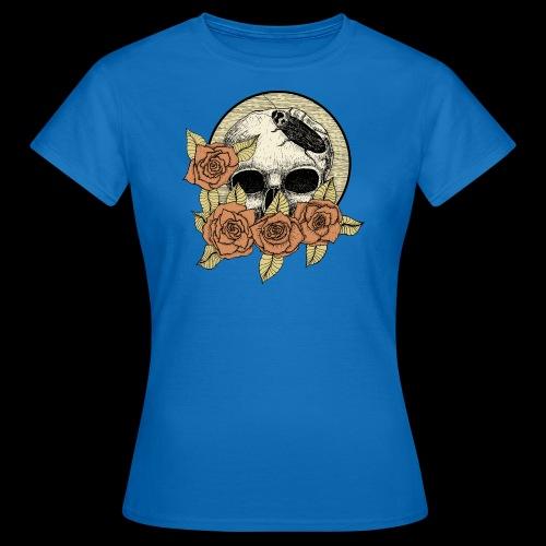 Rose et tête de mort - T-shirt Femme