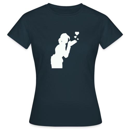 T Icon Emotes E BlowKiss L png - T-shirt Femme