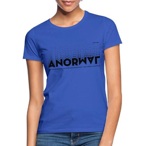 ANORMAL negro - Camiseta mujer