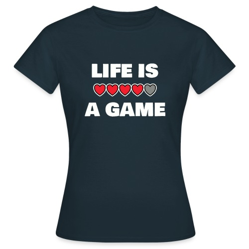 life is a game, White - T-shirt dam