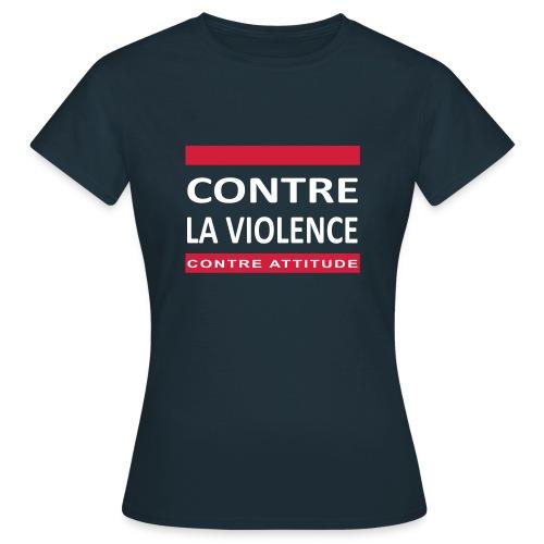 CONTRE LA VIOLENCE - T-shirt Femme