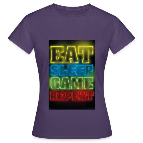 eat sleep game repeat - Vrouwen T-shirt