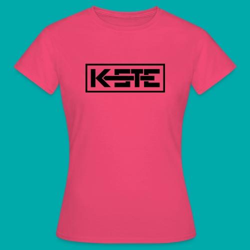 K-STE Logo schwarz - Frauen T-Shirt