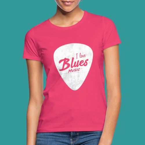 I Love Blues Music Guitar Pick - Women's T-Shirt