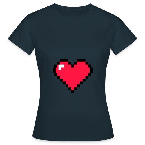 Corazón pixel - Camiseta mujer