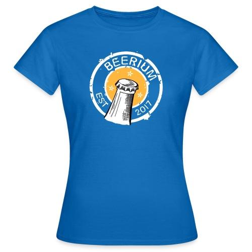 BEERIUM Logo mot svart - T-shirt dam