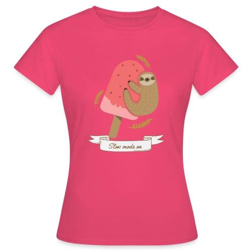 Paresseux Slow mode on - T-shirt Femme