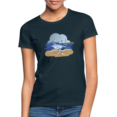 See... birds on the shore - Women's T-Shirt