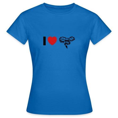 I ❤️ Schlange - Frauen T-Shirt