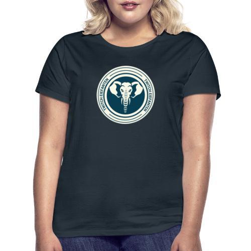Rundt logo - Dame-T-shirt