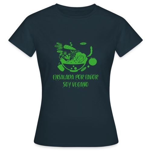 camiseta diseño vegano, vegetariano para hombre - Camiseta mujer