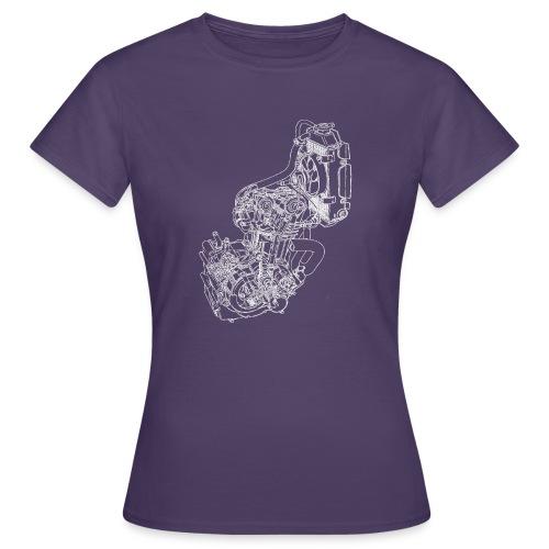nx250 motorblok wit - Vrouwen T-shirt