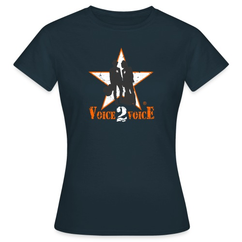 Voice 2 Voice Logo USED 14 12 2014 png - Frauen T-Shirt