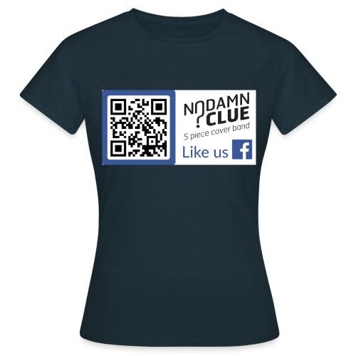 No Damn Clue QR Code - Women's T-Shirt