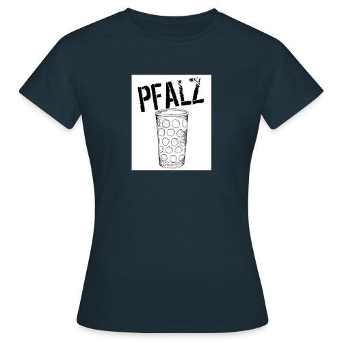 Pfalzshirt mit Dubbeglas, weiß - Frauen T-Shirt