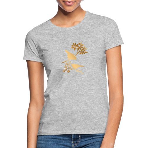 vogeltjes goud - Vrouwen T-shirt