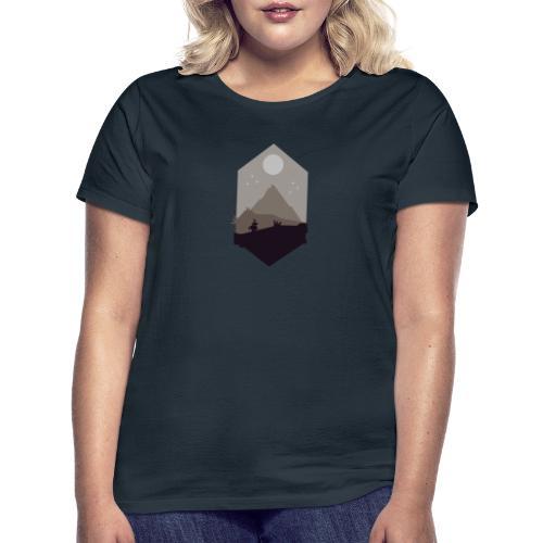 Mountain silhouette - T-skjorte for kvinner